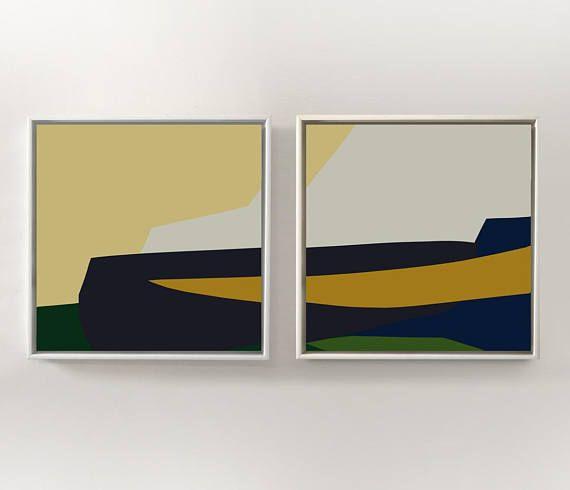 Set of 2 Prints Abstract Art Print Set 2 Abstract Prints | Stuff to ...