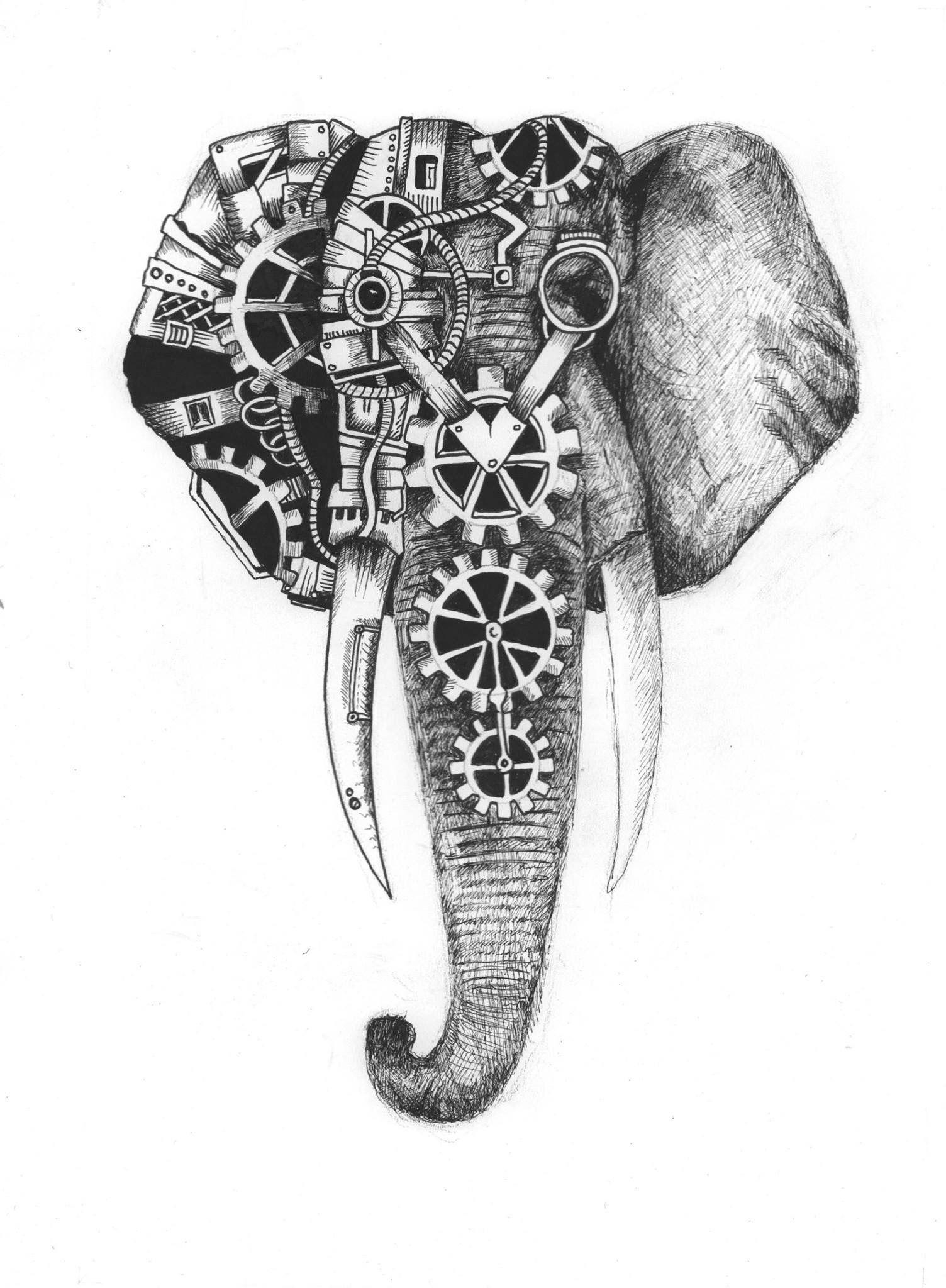 Pin by Brittani on Elephants | Steampunk artwork ...