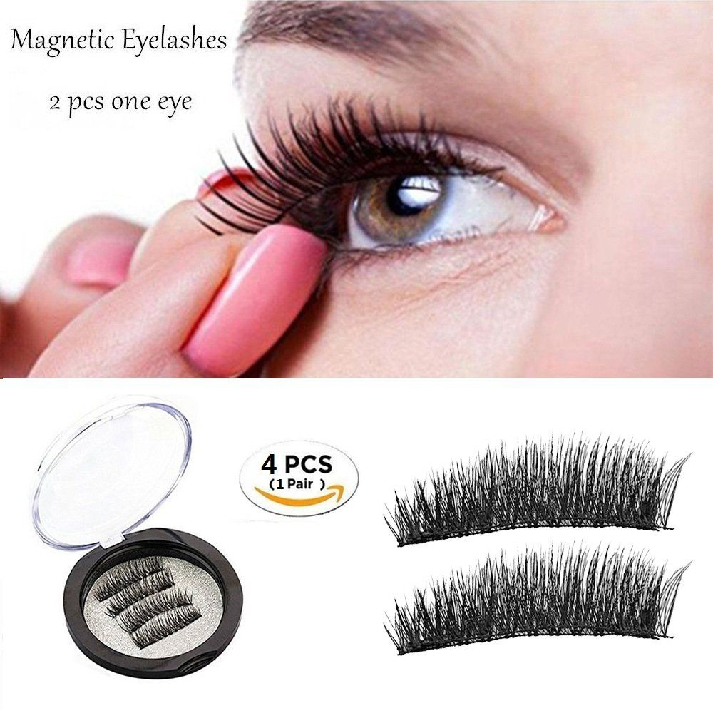 14cef80826e Magnetic Eyelashes Dual Magnetic False Eyelashes 3D Reusable Fake Magnet  Eyelashes No Glue 0.2MM Ultra Thin Fake lashes for Ultra Soft Natural Look  # ...
