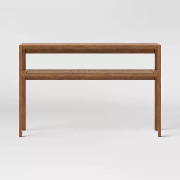 Warwick Narrow Console Table Threshold In 2020 Narrow Console Table Console Table Wooden Console Table