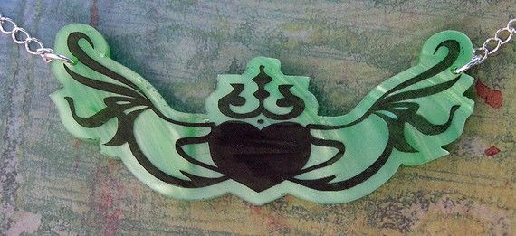 Claddagh Symbol Tattoo Inspired Jewelry  by everlastingdoodle, $13.50
