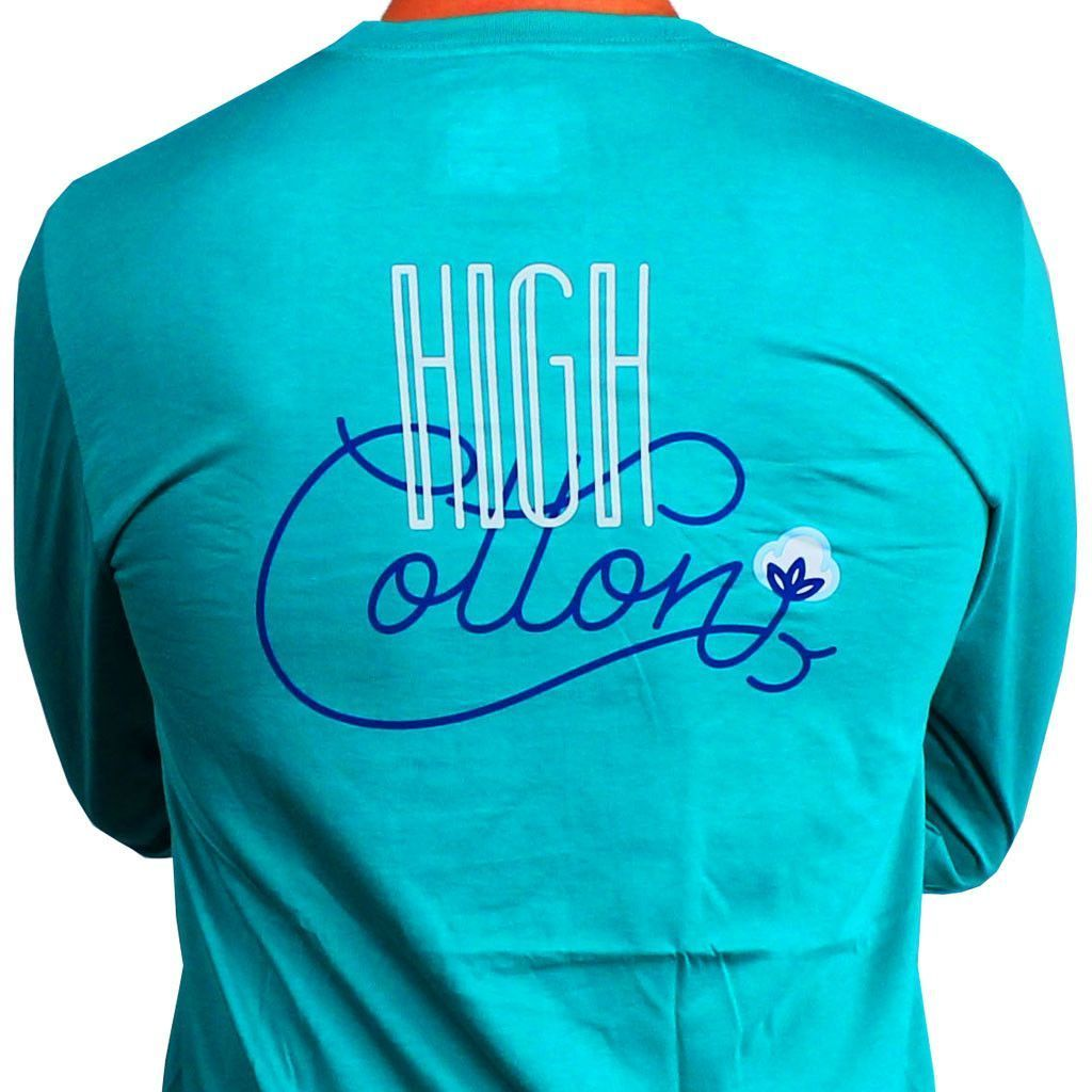 Signature Long Sleeve Pocket Tee in Marsh Green by High Cotton