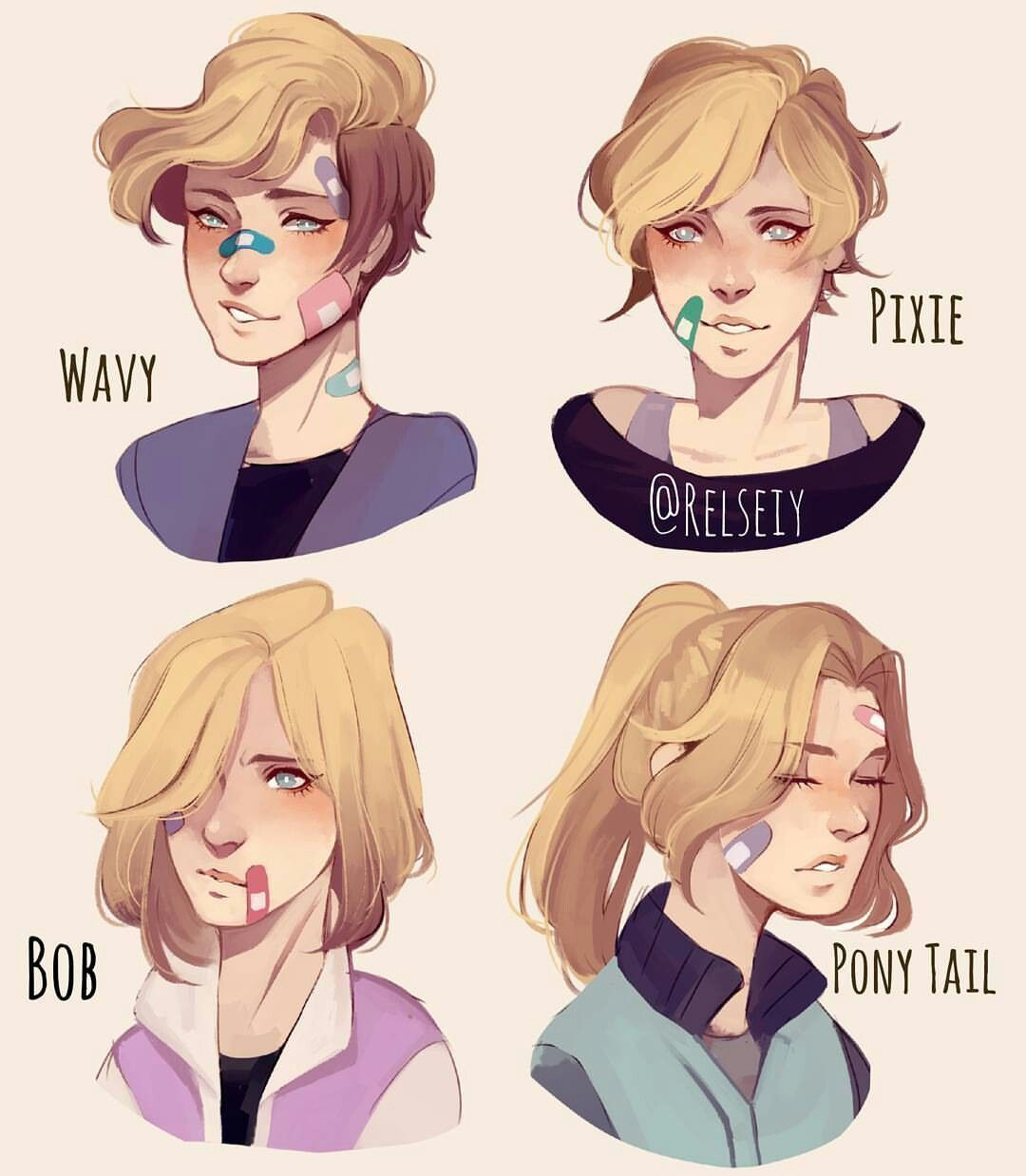 Resultado De Imagen Para Ponytale Reference Digitalart How To Draw Hair Guy Drawing Hair Reference