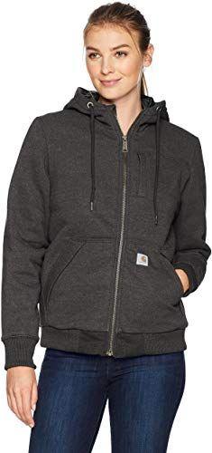 New Carhartt Women's Rain Defender Rockland Quilt Lined Zip Hooded Sweatshirt online - Melyssarubyclothing