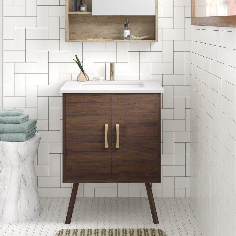 Beachcrest Home Georgina 30 Single Bathroom Vanity Set Reviews Wayfair In 2020 Single Bathroom Vanity 30 Inch Bathroom Vanity Double Vanity Bathroom
