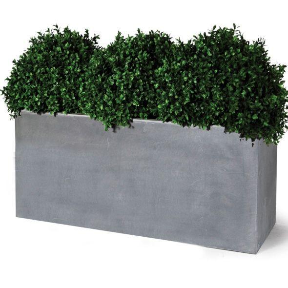 Bac A Fleur Ciment bac à fleurs polystone l100 h52 cm ciment foncé | jardin & plantes