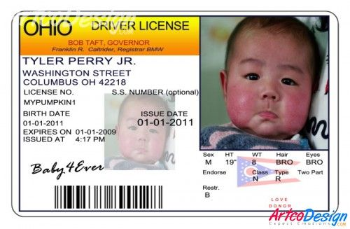 ohio    birth announcements    driver license templates