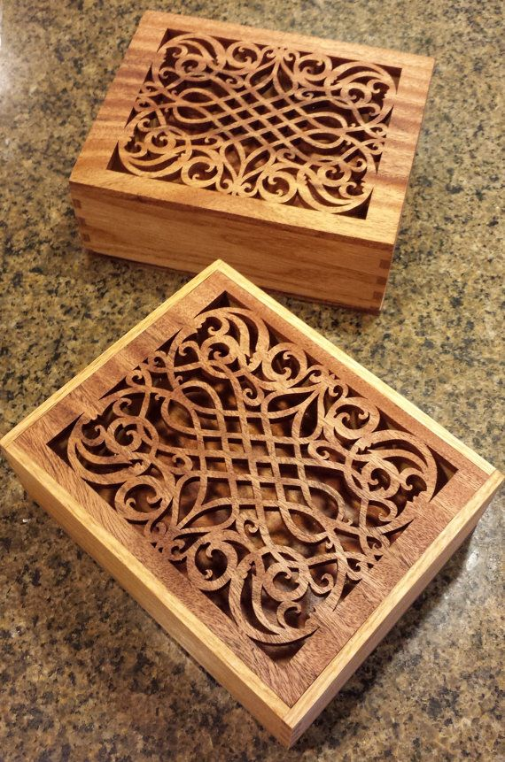 Decorative Keepsake Box Entrancing Decorative Keepsake Box With Intricate Fretwork On Topiwood4U Decorating Design