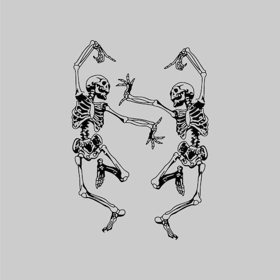 Dancing skeletons SVG, Skeleton funny dance SVG, Skeleton SVG, Halloween svg, Cricut Files svg ipg png dxf, Silhouette cameo