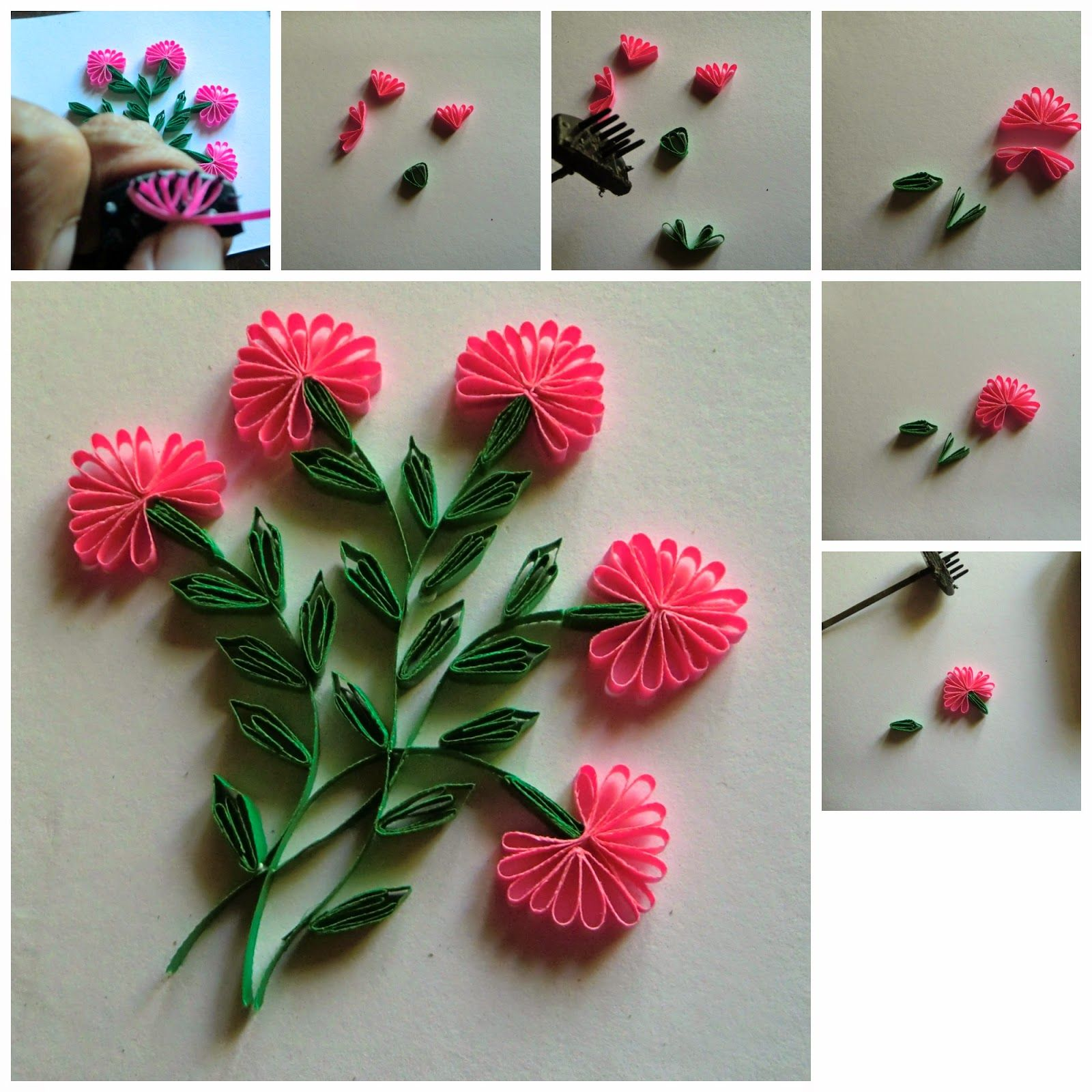 Anastasia Annie Wahalatantiri A Quick Amp Simple Method Of Making A Flower For A C Paper Quilling Tutorial Quilling Flowers Tutorial Quilling Designs