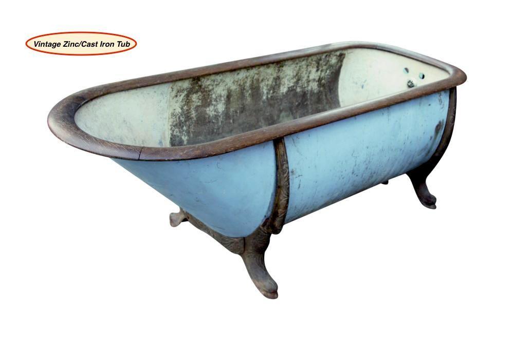 WOW!! Vintage cast iron/zinc claw foot tub... | VINTAGE LOVE | Pinterest
