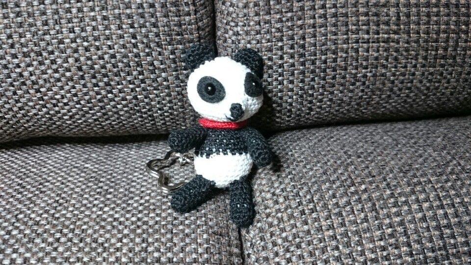 Panda beer sleutelhanger