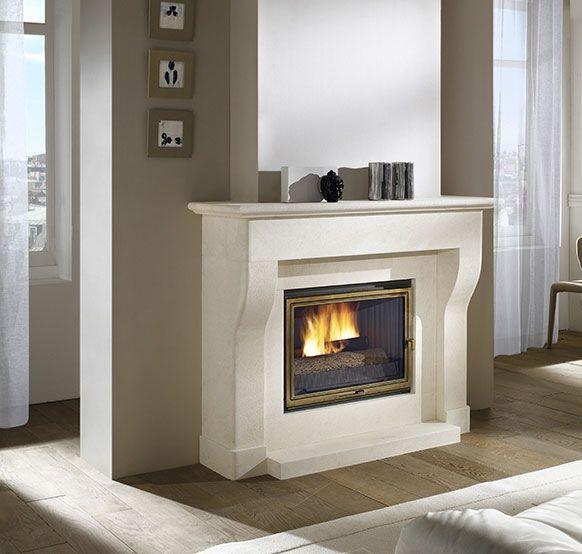 Foyer L Ensoleillado Salon De Provence : Cheminée turbo fonte noailles en pierre blanche de