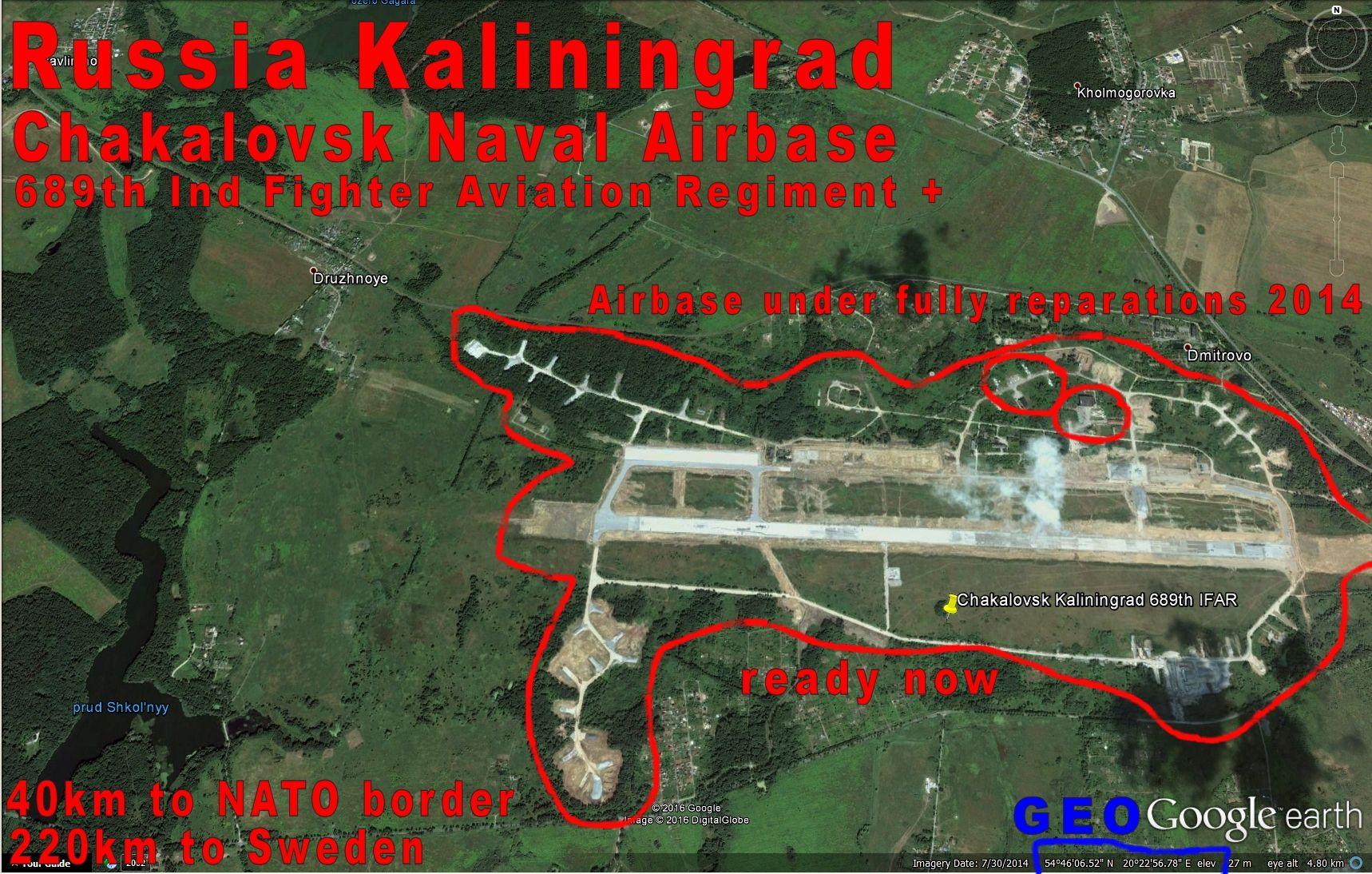 Kaliningrad russia Kaliningrad Russia Chakalovsk Air Base