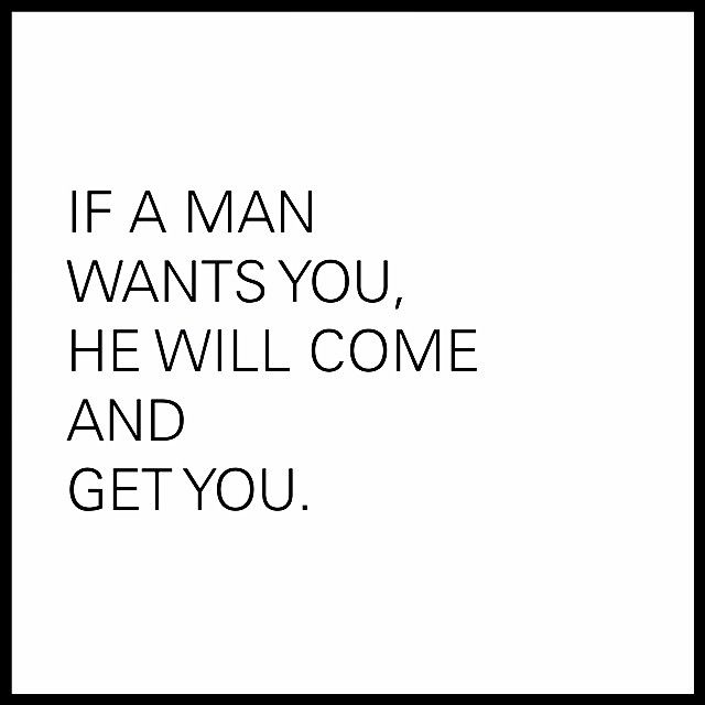 If he does not claim you, he does not want you  Either he
