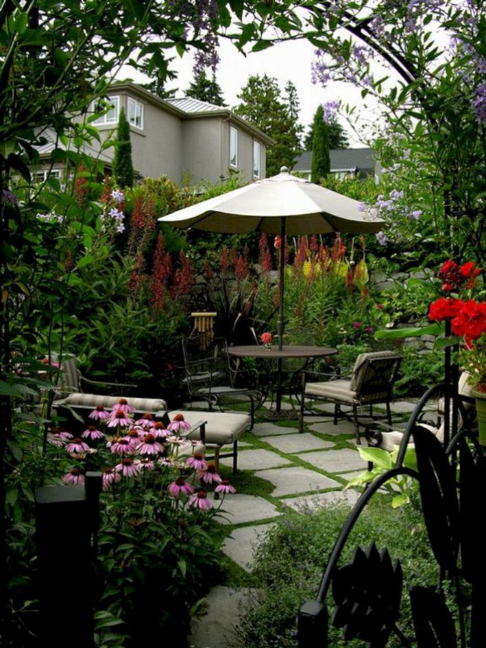 11 Best DIY Small Patio Ideas On a Budget | Small garden ... on Courtyard Ideas On A Budget id=87068