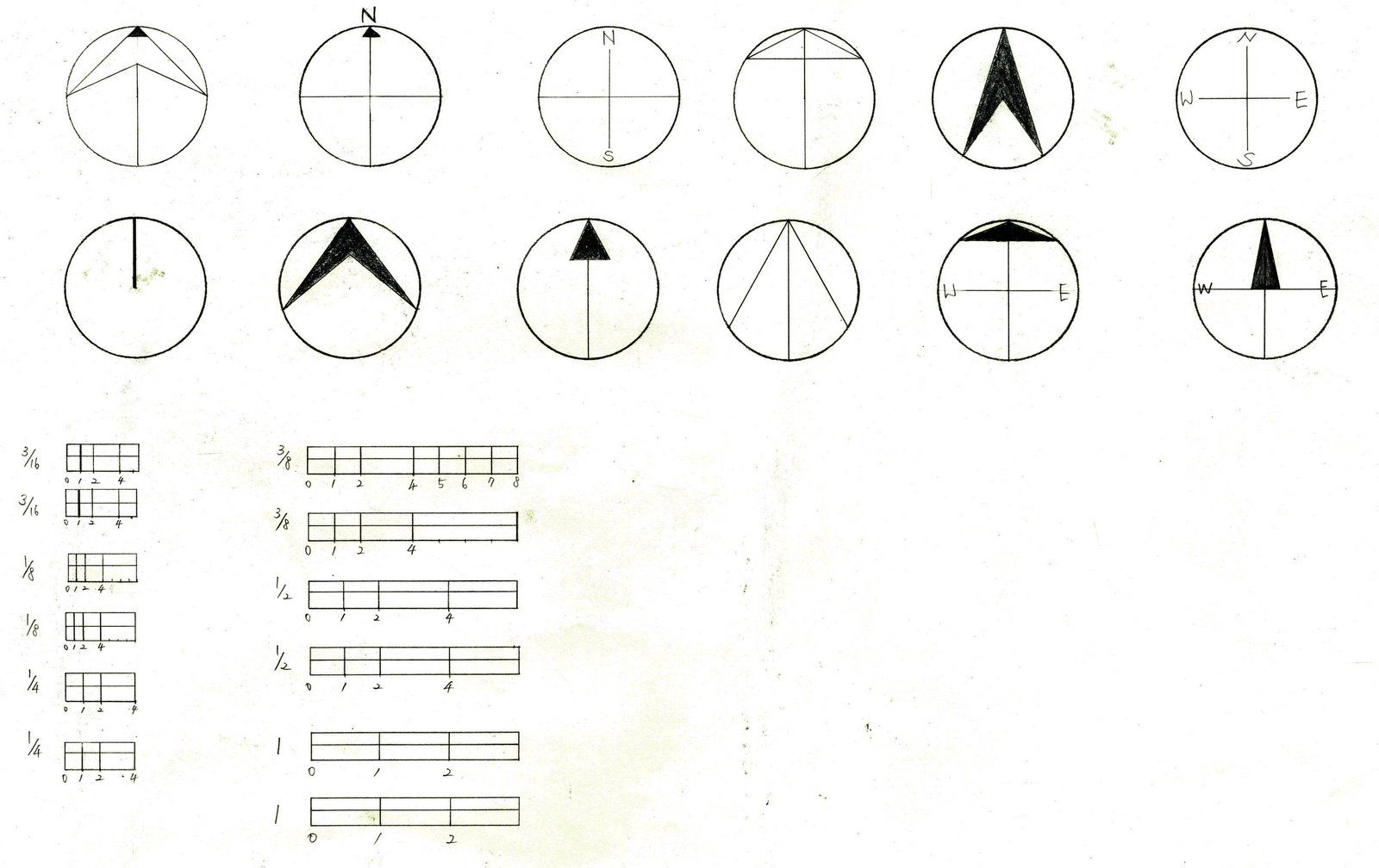 "Interior Design ""North Arrows"" and ""Scalse"