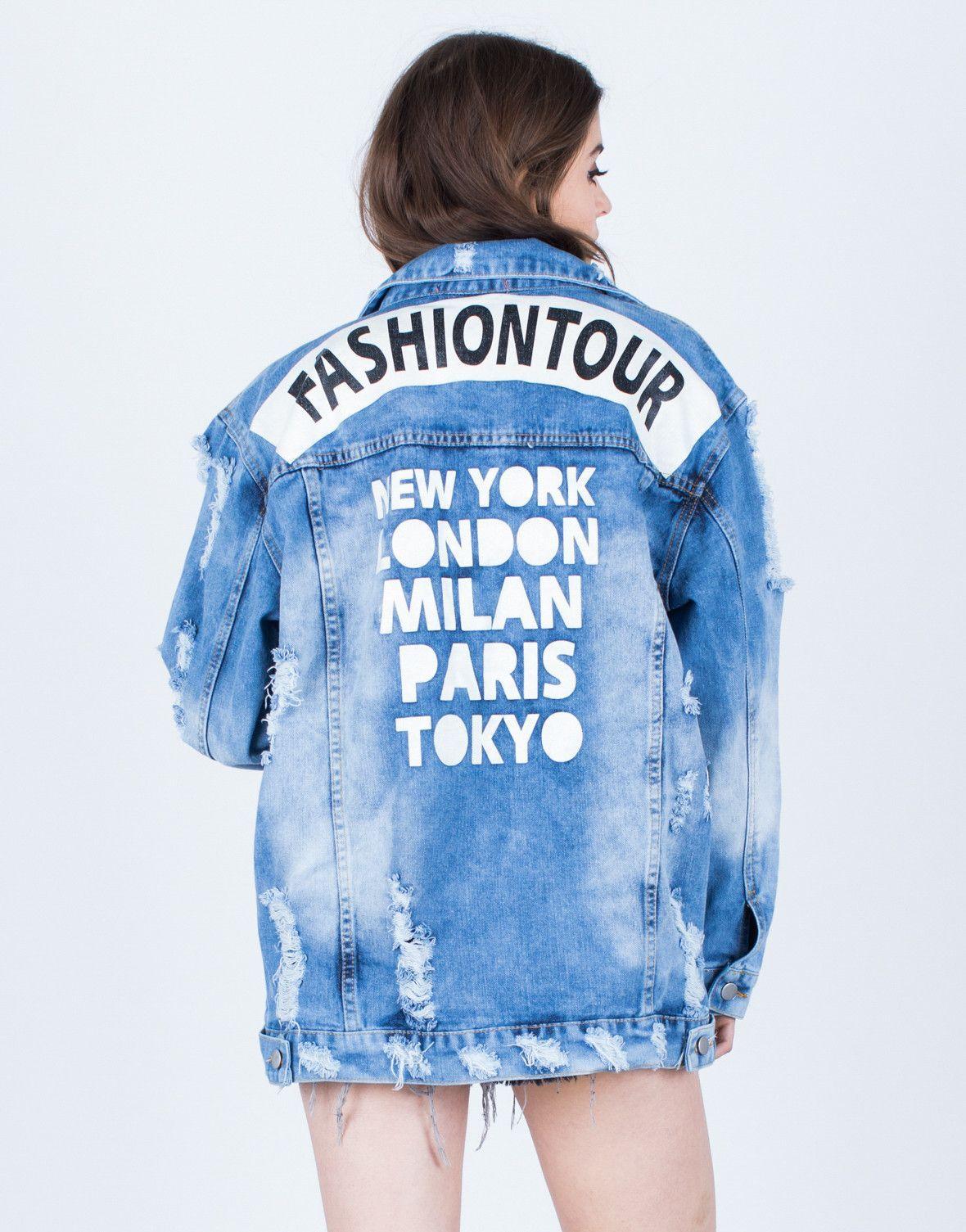 09e3c383e Fashion Tour Denim Jacket - Acid Wash Denim Jacket - Destroyed Denim Jacket  – 2020AVE