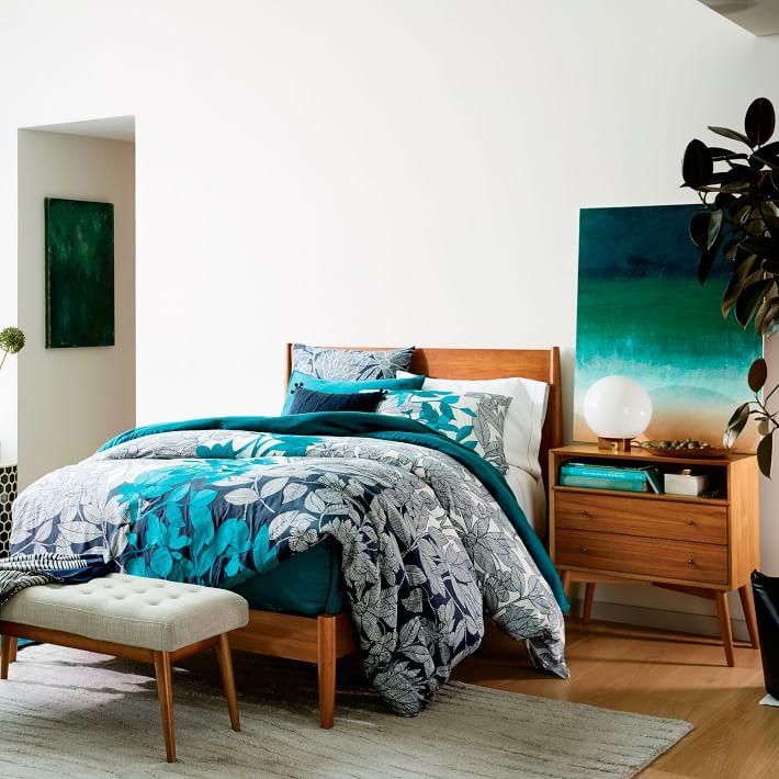 Mid Century Grand Nightstand Acorn Wide Bedside Table Furniture Furniture Uk