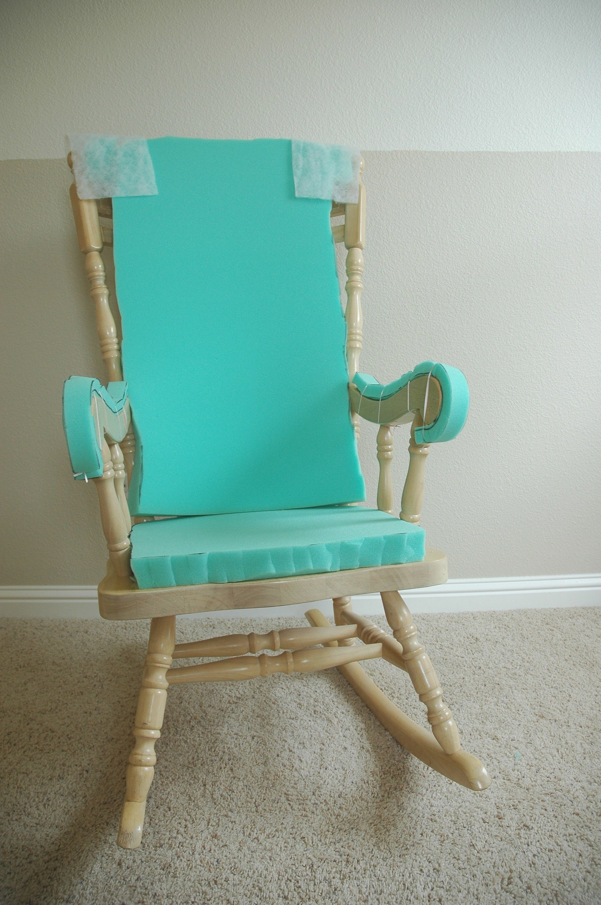 wooden rocking chairs nursery side for dining room adding comfort to a chair part one sewing padding