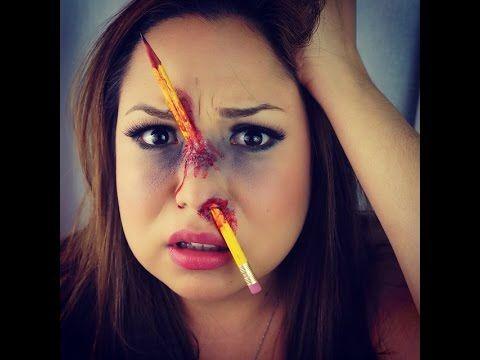 maquillaje de halloween lpiz encajado youtube - Como Maquillarse En Halloween