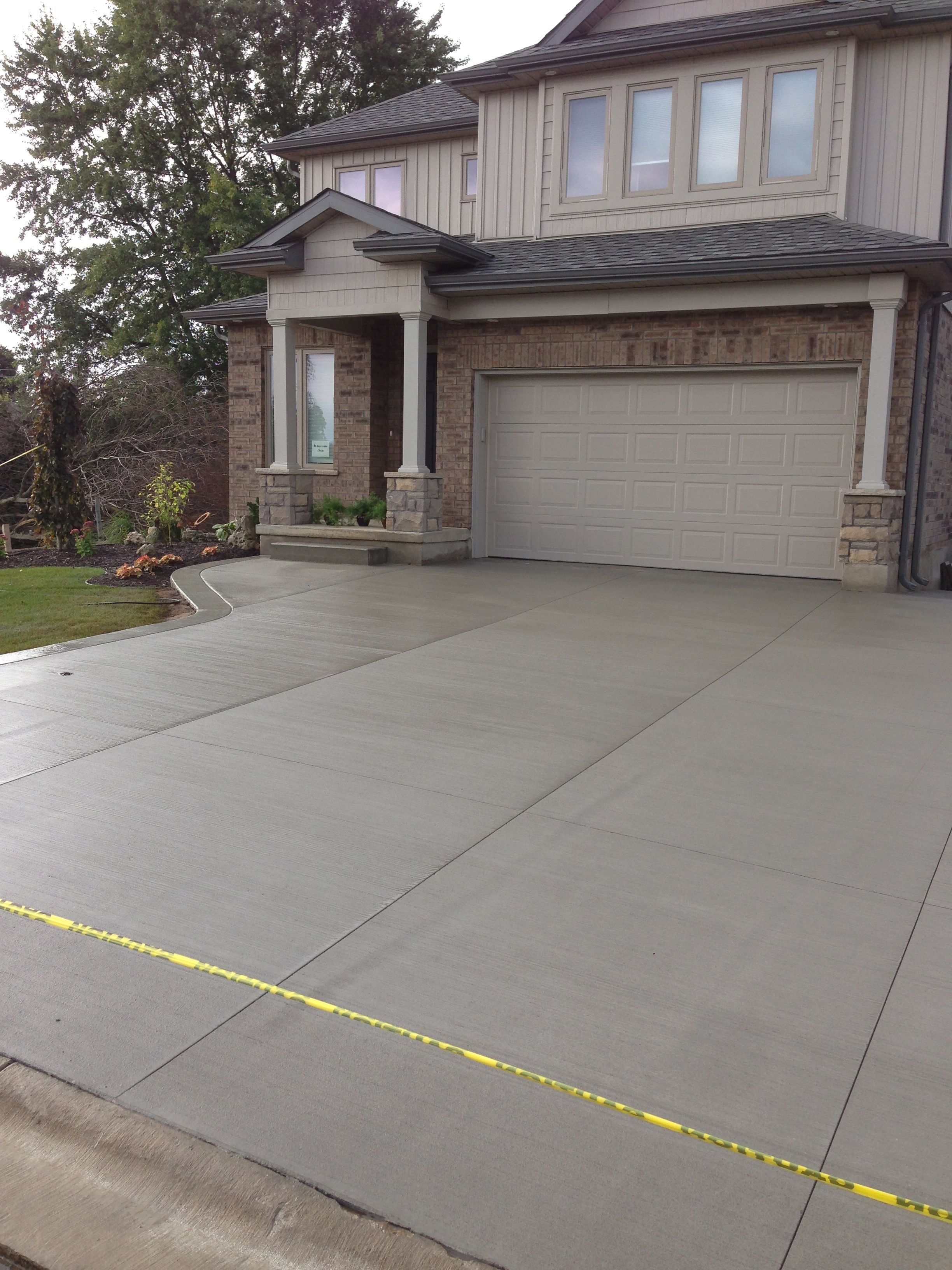 Broom Finished Concrete Driveway In Strathroy Ontario