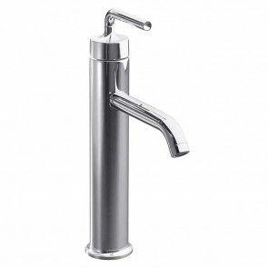 Kohler Purist Tall Single Lever Monobloc Basin Mixer Tap Straight