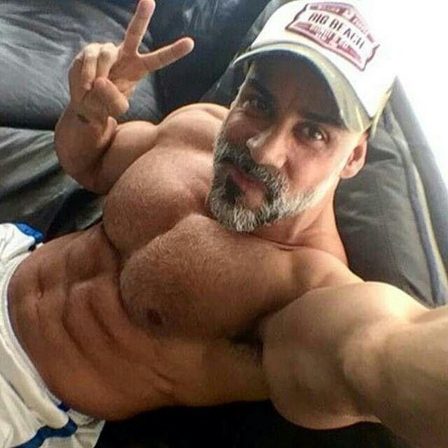 Bearded muscle men