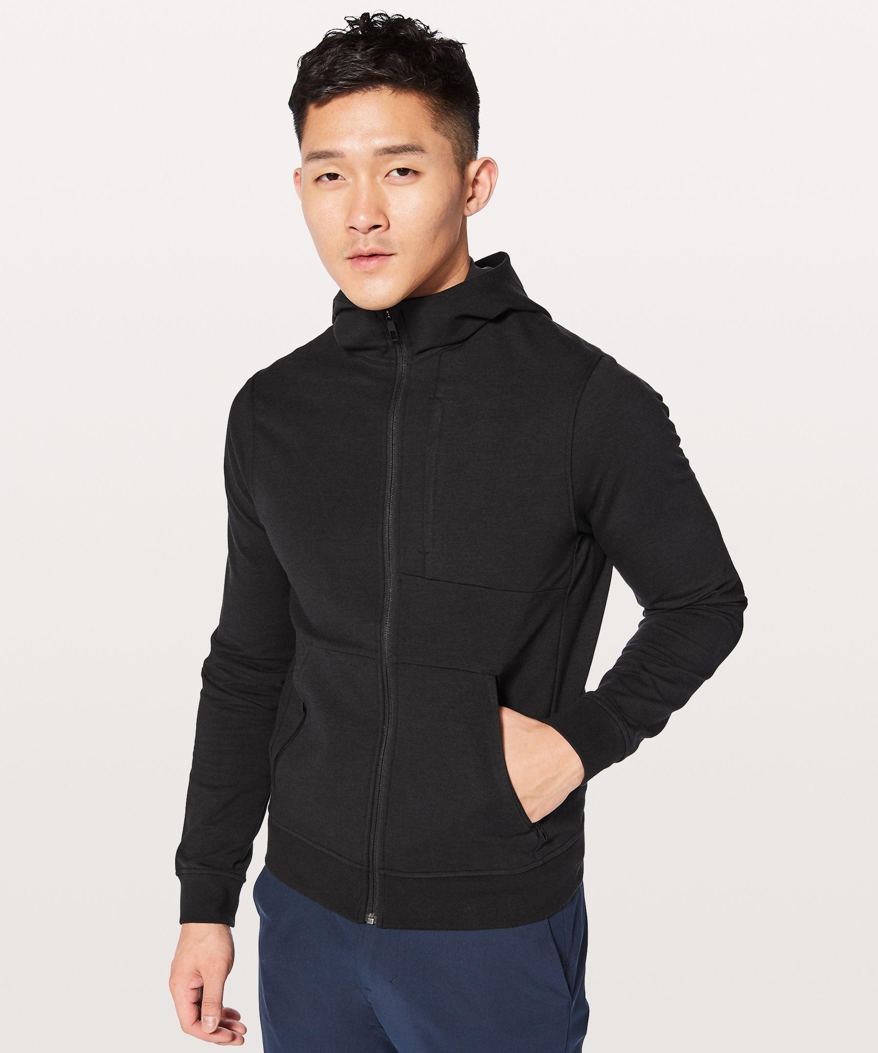 Lululemon Men S City Sweat Zip Hoodie French Terry Black Size Xs Hoodies Zip Hoodie Hooded Jacket