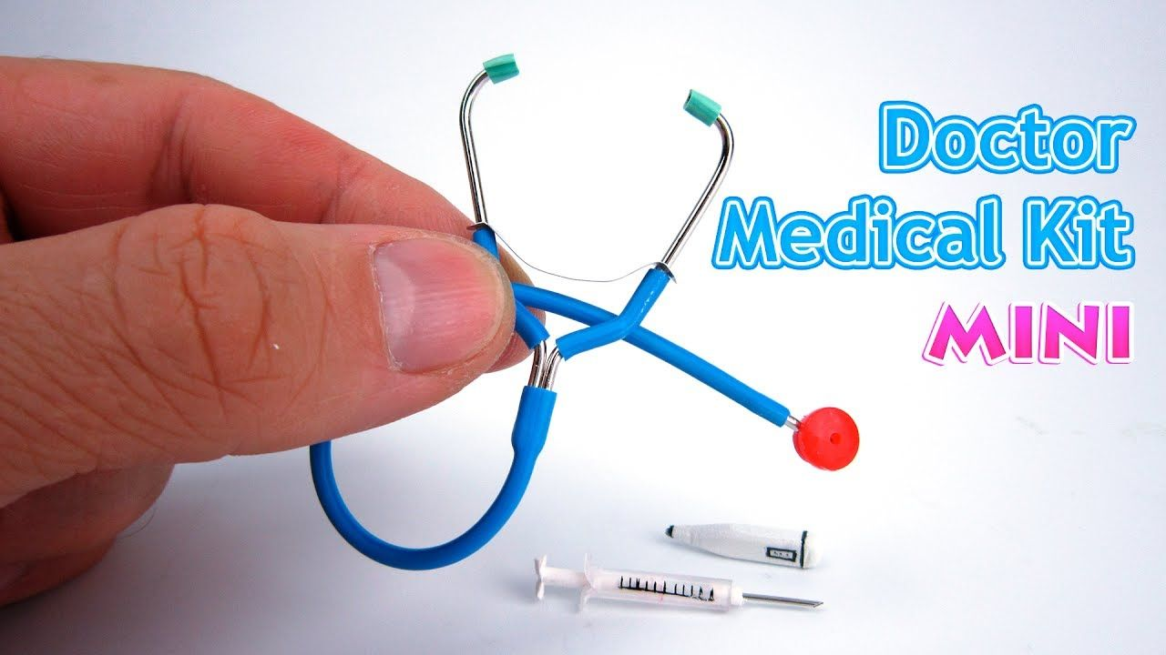 DIY Miniature Toy Medical Kit | DollHouse | No Polymer Clay!