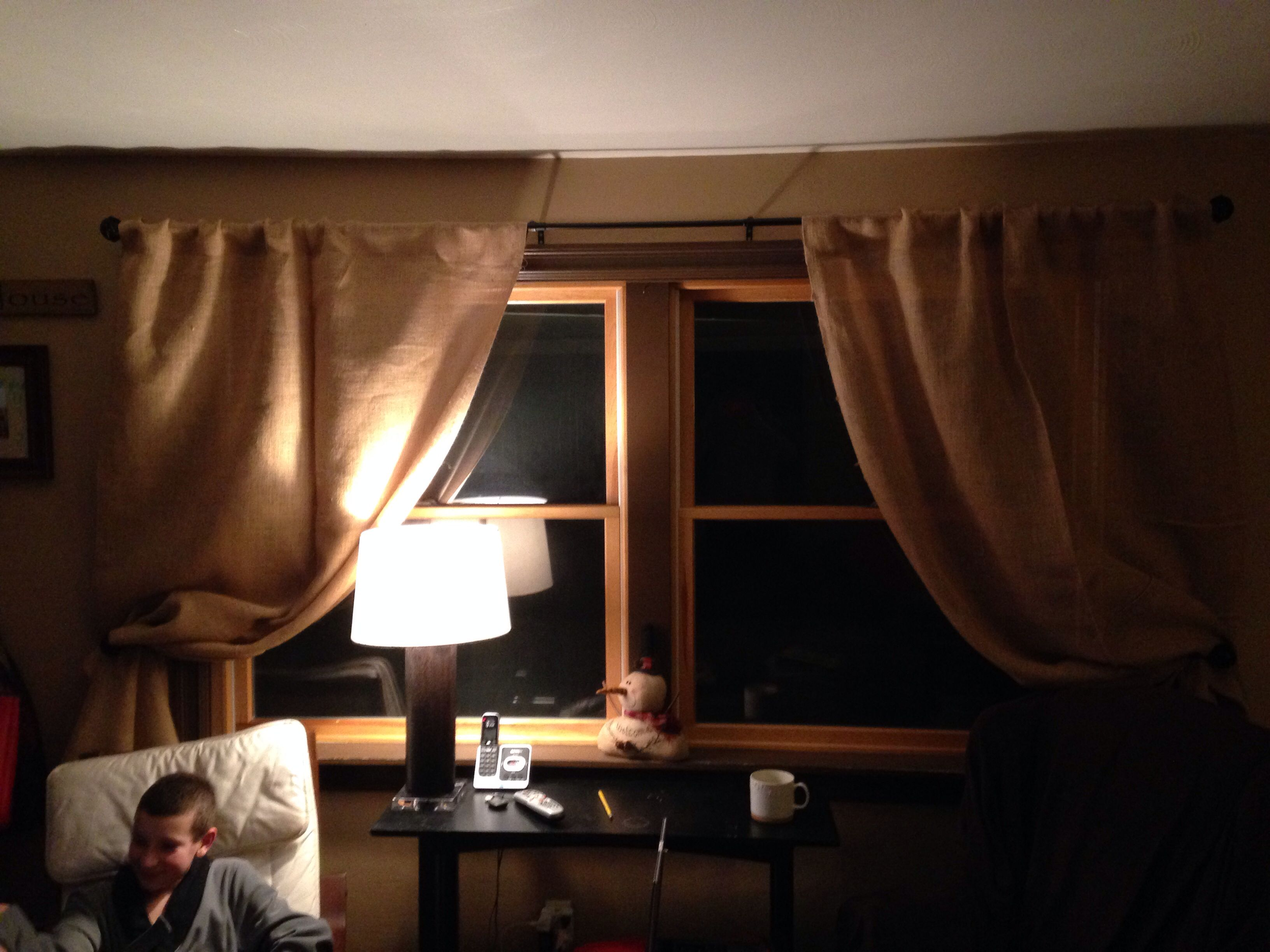 Burlap curtains didn t make them purchased them from bed bath