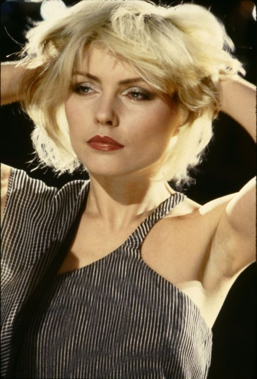 ... hands of the rock-chicks, and used to form the basis of their smoky, smudgy eye makeup. Witness Debbie Harry, here filming her Heart of Glass video: