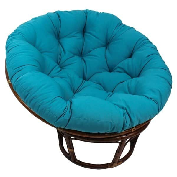 Blazing Needles 52 Inch Solid Twill Papasan Cushion