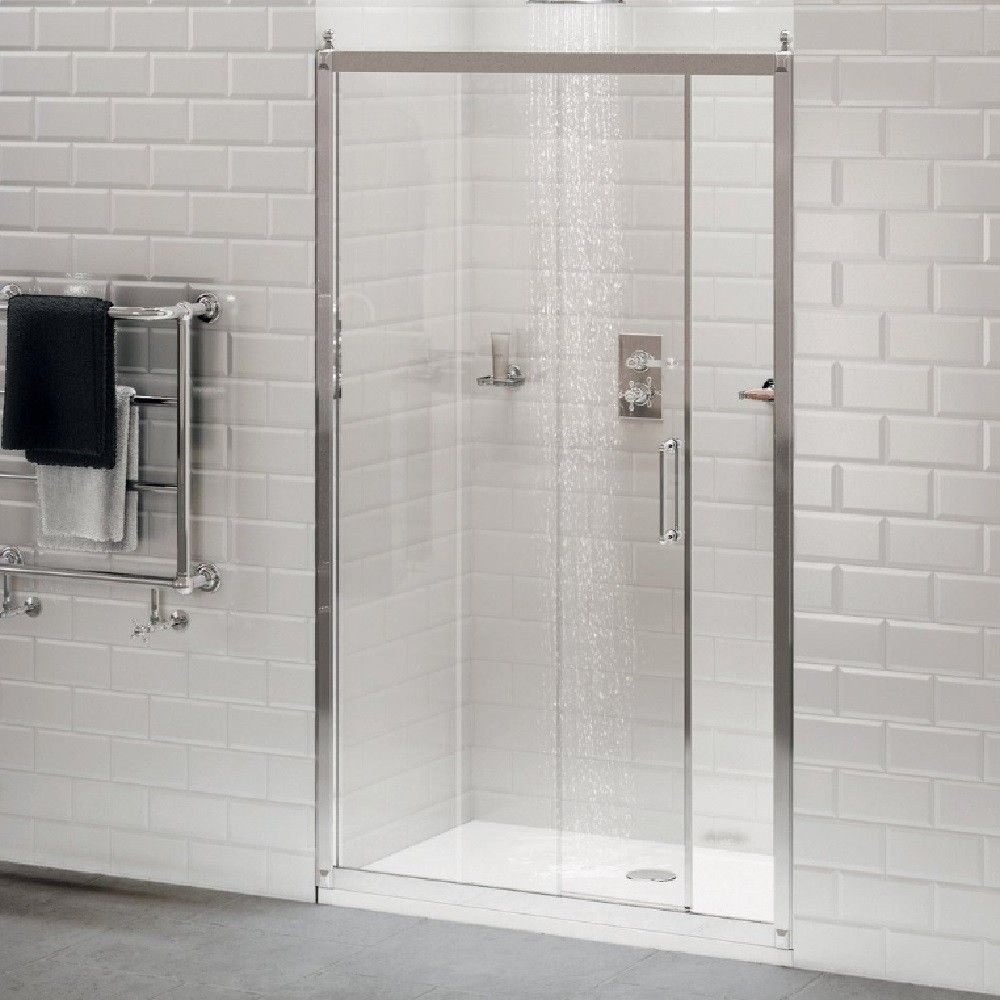 Burlington Soft Close Sliding Shower Door 1200mm Easy Bathrooms Shower Doors Sliding Shower Door Contemporary Bathroom Tiles