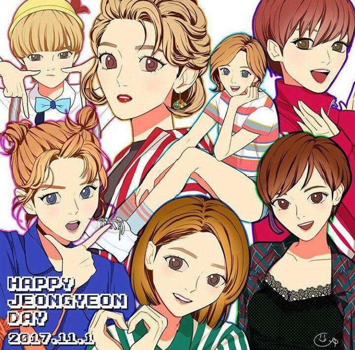Twice Jeongyeon art fanart Versión anime, Chibi, Anime