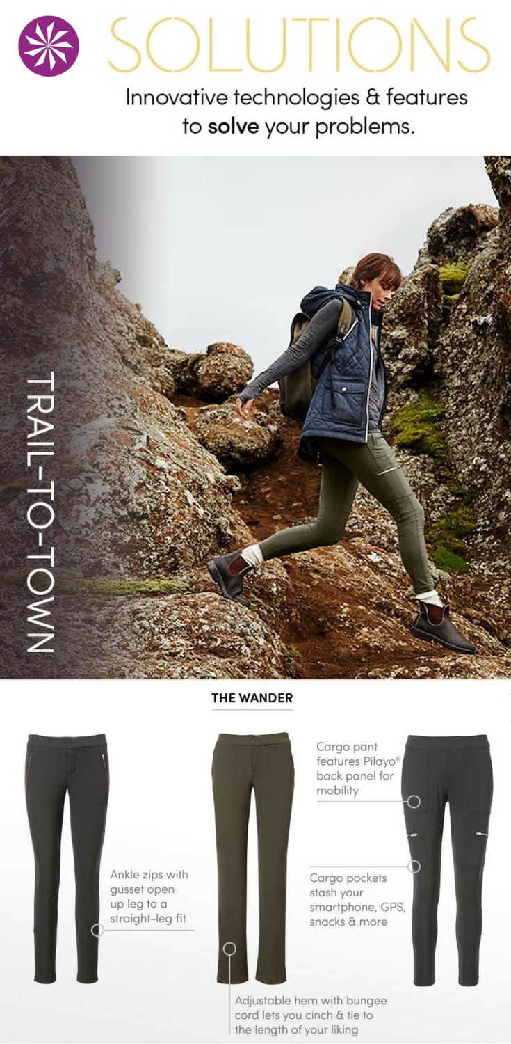 Hiking stylish pants fotos