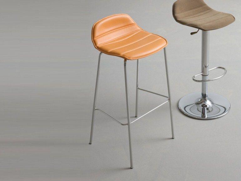 High upholstered barstool ALHAMBRA | Upholstered stool - GABER