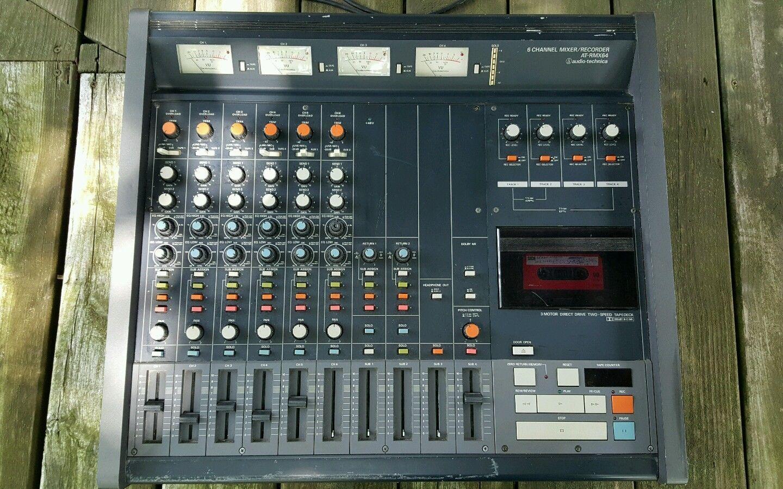 Audio Techica At Rmx64 6 Channel Mixer Recorder Vintage Studio Equipment Ebay