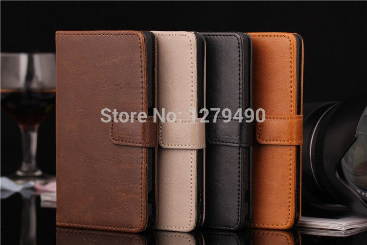 Cheap leather wallet women, Buy Quality leather wallet iphone directly from China leather wallet pouch Suppliers:Luxury Vintage PU Leather Flip Case For SONY Xperia Z1 Compact Z1 MiniProduct Features:This case made