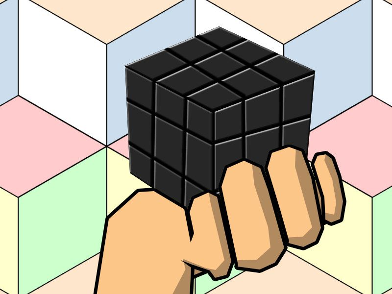 """For those who don't get it... this """"puzzle cube"""" is in a state of being solved and unsolved, at the same time. #SaveTheQuantumCats"""