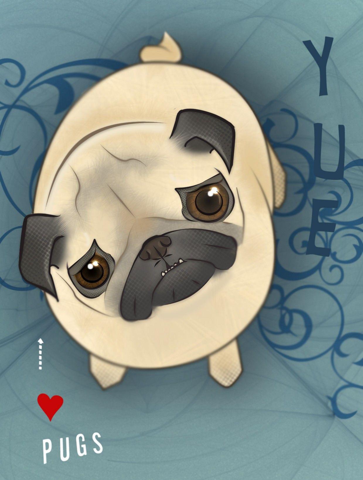 Pugs Google Search Pug Cartoon Pugs Pugs And Kisses