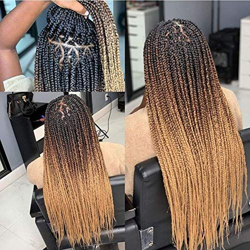 New Themis Collection 24 Ombre Box Braids Crochet Hair 24Strands Three Tones Heat Resistant Fiber Hair(6packs/lot,Black-DarkBrown-Light Brown) online shopping - Showmetopstyle