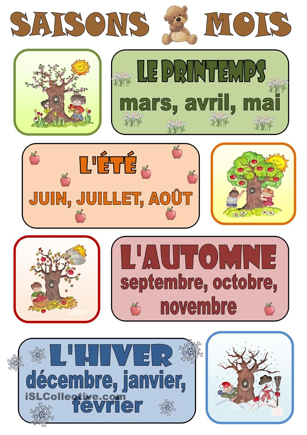 lines on seasons in french