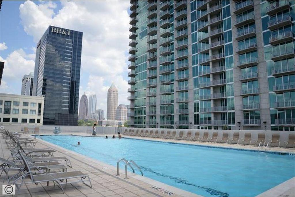 Atlantic Pool the pool deck at 12 atlantic station in atlanta ga high rise