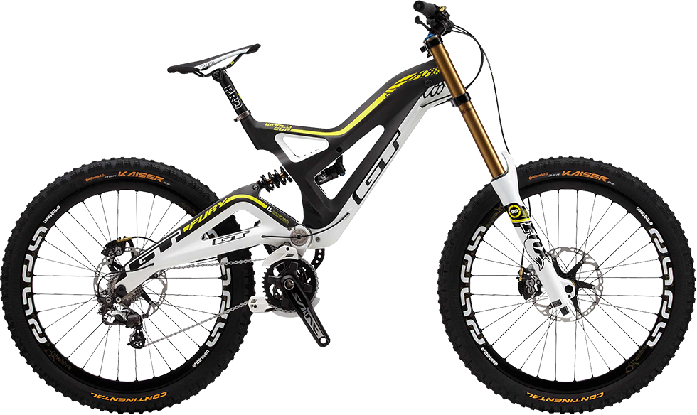 GT Bicycles, Fury Carbon, this thing looks like a dirt bike ...