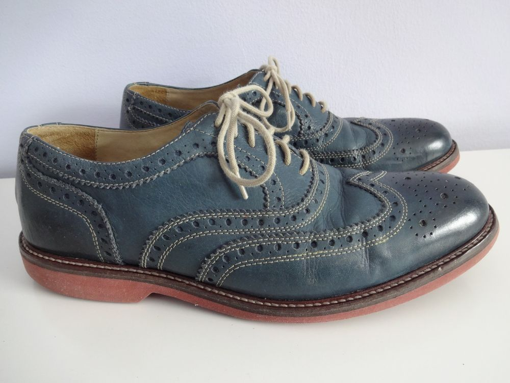 blue leather shoes nordstrom 1901 oxford wing tip casual