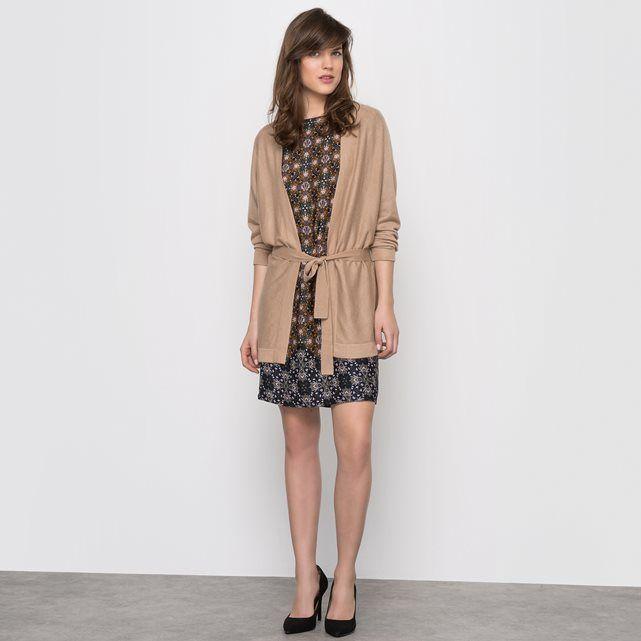 Fine Gauge Belted Maxi Cardigan, 30% Silk LAURA CLEMENT : price ...