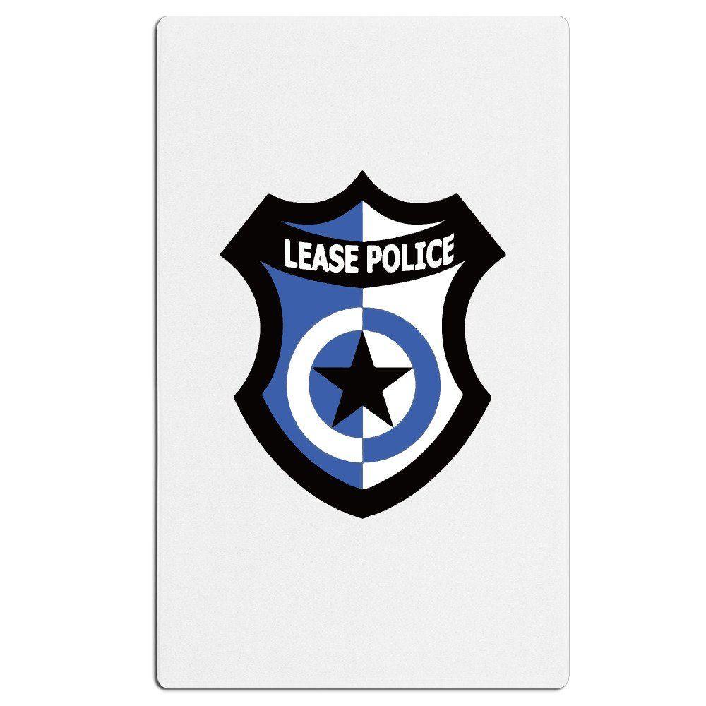 Beach Blanket Logo: Lease Police Logo Unique White Bath Beach Towel -- Awesome