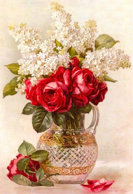 MATIN LUMINEUX: Paul de Longpré 1855-1911