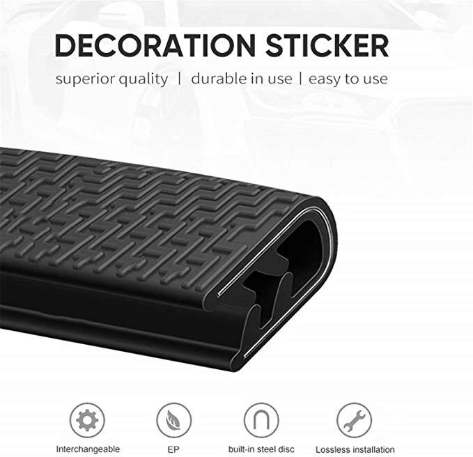 Amazon Com Car Door Edge Guards Strip U Shape Flexible Car Door Protector Rubber Anti Collision Rubber Trim Seal Lining Prote Door Protector Edge Guard Rubber